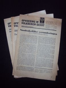 NSB; Opvoeding in Volkschen Geest - 3 issues - 1943