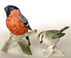 Goebel - Two birds - Bullfinch and Firecrest