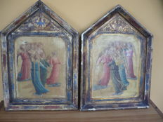 Two works on wood - Italy, early 20th century