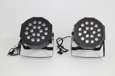 Set of 2x LED RGB par spots