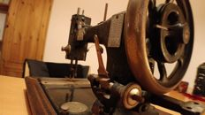 Sewing machine Nova Perfekta with beautiful wooden lid