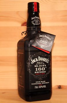 Jack Daniels 'Mr. Jack's 160th Birthday', 1850 to 2010 sour mash tennessee whiskey, 70cl 40%vol.