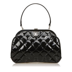 Chanel - Quilted Patent Leather Handbag