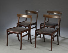 Ole Wanscher for P. Jeppesen Møbelfabrik - set of 4 chairs, 'Rungstedlund' collection