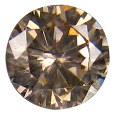 diamond 0.17 Carat Natural Fancy Brownish Pink I2 Clarity - DG1809 - NO RESERVE PRICE