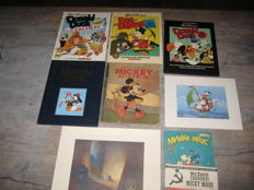 Mickey Aviateur + 4x Donald Duck/Dagobert Duck + Mickey Mouse Russian - sc/hc - 1st edition (1948/2001)