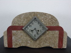 Marble Art Deco clock - France - circa early 1900