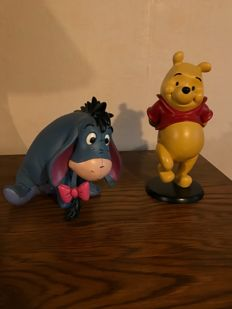Disney, Walt - 2 Statuettes - Winnie L'Ourson + Bourriquet