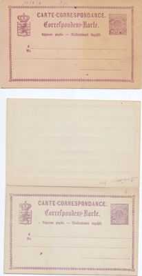Luxembourg 1875/1921 – Selection of 56 antique postcards