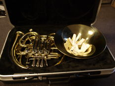 New Jäger French horn, double, F/Bb, 4 cylinders, with abs case