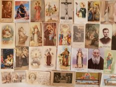 Interesting batch of 160 holy cards with blessed, servants of God, Madonnas, sepia-toned, etc.