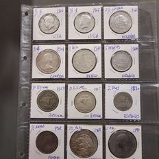 Worldwide - Lot of various coins 1870/1968 (12 pieces) - Silver