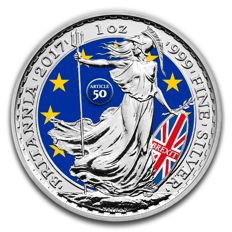 Great Britain - 2 Pounds 2017 'Britannia / Brexit Special Edition' with colour - silver