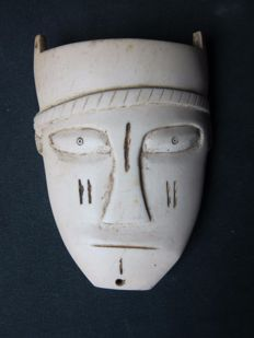 Large Mask in Antique Ivory - MANGBETU - D.R. Congo