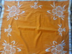 Beautiful yellow handwoven tablecloth