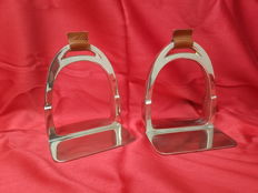 "Bookends ""stijgbeugels"" chrome Eichholz"