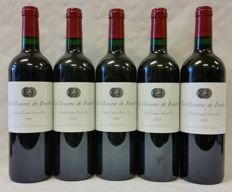 2013 La Closerie de Fourtet - Saint-Emilion Grand Cru (Bordeaux) - 5 bottles