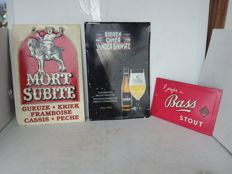 Beer advertising signs mort subite bass stout. 1970 1995 1998