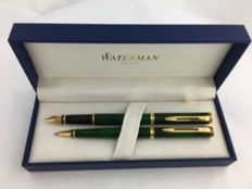 Waterman Preface set mixed green GT ballpoint pen + fountain pen