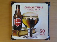 Beautiful enamel advertising signs: Southern Comfort, 2 enamel signs Lingens Blond, Chimay Triple enamel advertising sign.  All signs are from the 1990s