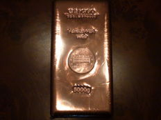 5 kg copper bar - Güldengossa castle - 999.9 copper - 5000 g - Germany