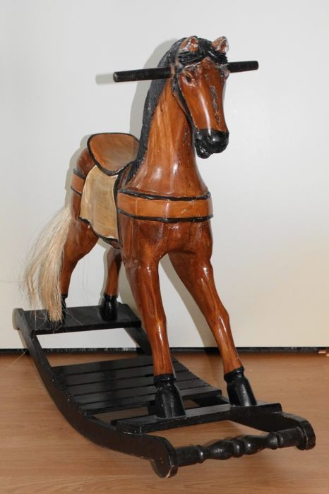Vintage Wooden Carved Old Rocking Horse Carousel Horse Catawiki