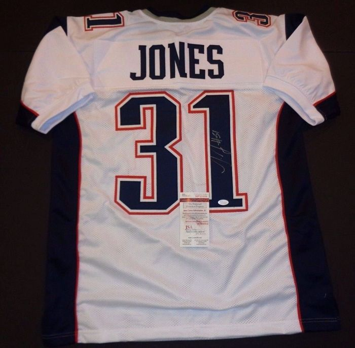 NFL jersey, New Engand Patriots signed by Jonathan Jones With cert. of authenticity James Spence Authentication