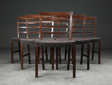 Ole Wanscher for Illums Bolighus - set of 6 chairs