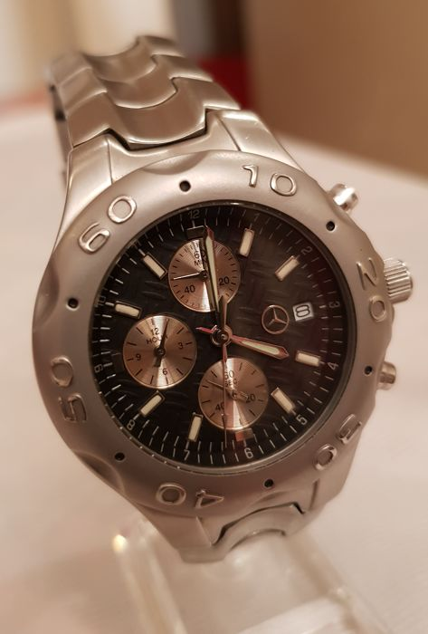 Genuine Mercedes Benz Mens Chronograph Classic Rally Watch ... |Mercedes Benz Chrono Watches