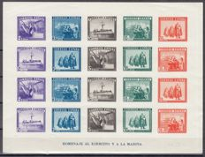 Spain1938 – HB army and navy, imperforated – Edifil 850