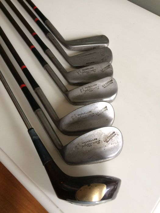 Golfclubs vintage 1930 - 1940  lot van 7 clubs