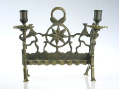 Hanukkah Lamp brass Poland