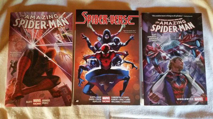 Spider-Man Oversized Hardcovers: Amazing Spider-Man Vol 1, ASM Worldwide vol 1 & Spider-Verse HC