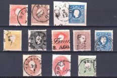 Lombardy Venetia, 1858/1862 – Small selection of stamps from various issues and postal stationery