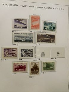 Soviet Union 1931/1944 - Collection in Schaubeck clamp album