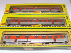 Fleischmann H0 - 1414N/1415N - 3x Vintage Carriages New Haven