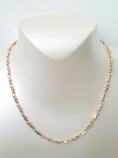 Two-tone 18 kt Gold necklace - size: 45 cm