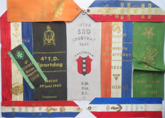 Military commemorative ribbons - 10 pieces - Dutch incl Marva, Milva, Luva, Officers, Exercise contests et cetera.