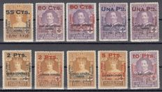 Spain 1927  Alfonso XIII, 25th Anniversary of the coronation of Alfonso XIII - Edifil 392/401