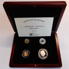 The Netherlands - Prestige set 2006 'Netherlands - Australia' - gold, silver in box.