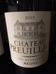 2013 Chateau Preuillac, Cru Bourgeois Medoc - 9 bottles