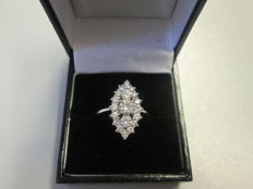 Ring with diamonds in marquise shape