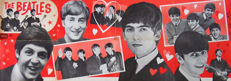 Teh Beatles  -  poster made in  1965
