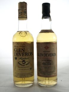 2 bottles - William Lawson's Glen Deveron 5 years old 75cl & Glen Deveron 5 years old 70cl