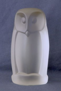 H.M. Laupman Leerdam - Frosted pressed glass owl