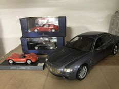 Ixo / Hot Wheels - Scale 1/18-1/43 - Lot with 4 models: 4 x Maserati cars
