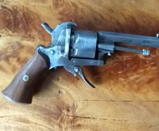 Pinfire revolver - 7 mm Lefaucheux from 1850s