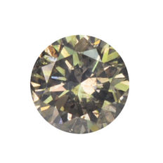 diamond 0.12 Carat Natural Fancy Grayish Yellow I2 Clarity - DG1770 - NO RESERVE PRICE