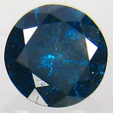 Diamond, 0.16 ct, Fancy Intense Blue (treated), I3 Clarity - DG1503 - NO RESERVE PRICE