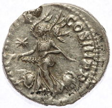 Roman Empire - AR denarius - Elagabalus - Flying Victoria (RIC 45) - 17 mm 3,08 g